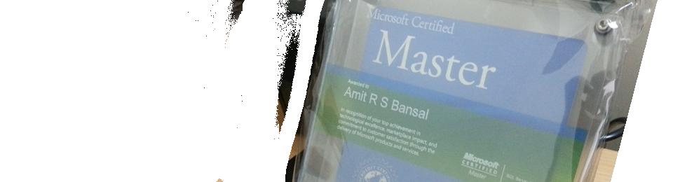 Amit Bansal Microsoft Certified Master